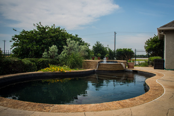 Pool of home in Robson Ranch Denton Texas