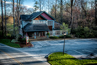 Aerial view of Hendersonville Dermatology Clinic in Flatrock, North Carolina.